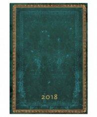Бележник Paperblanks 2018 Viridian Diary, Midi, Lined/ 42167