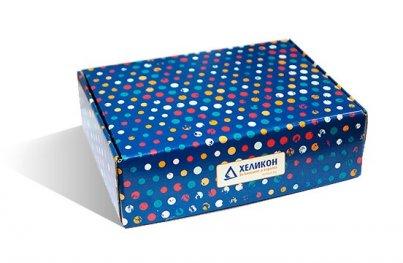 Кутия за подарък средна синя 250/180/75 Хеликон