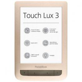 "PocketBook Touch Lux 3 PB626(2) 6"" четец за електронни книги - матово златист"