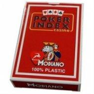 Карти за игра Modiano Poker Index червен
