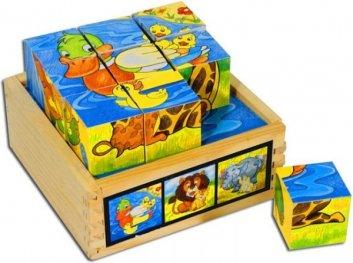 Toys Pino 9 кубчета 4413S3 животни