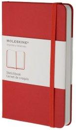 Бележник Moleskine Sketch-Book Pocket, Hard Red  [Diary] [0307]