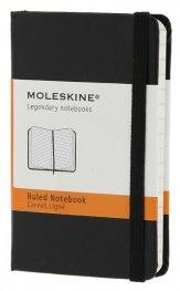 Бележник Moleskine Notebook Ruled Black Extra Small [Hard Cover] [7085]