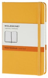 Бележник Moleskine Notebook Ruled Yellow Orange Pocket [Hard Cover] [6330]