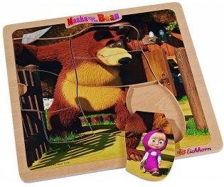 Маша и мечока - Дървен пъзел 7 части 109304079